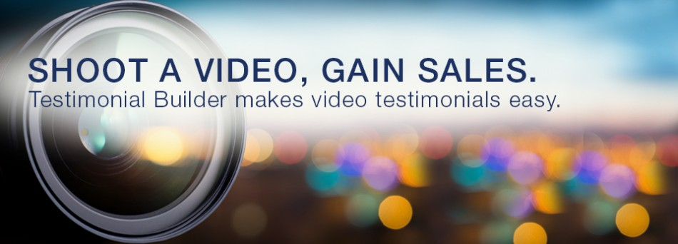 Shoot a video gain sales banner