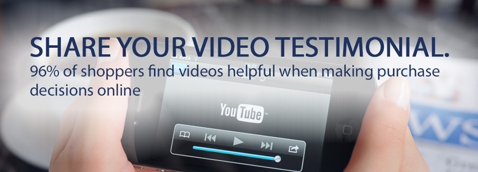 Share your video testimonials