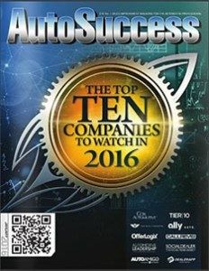 AutoSuccess The 10 Companies to watch 2016 magazine cover