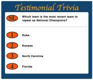 testimonial Trivia Game Piece